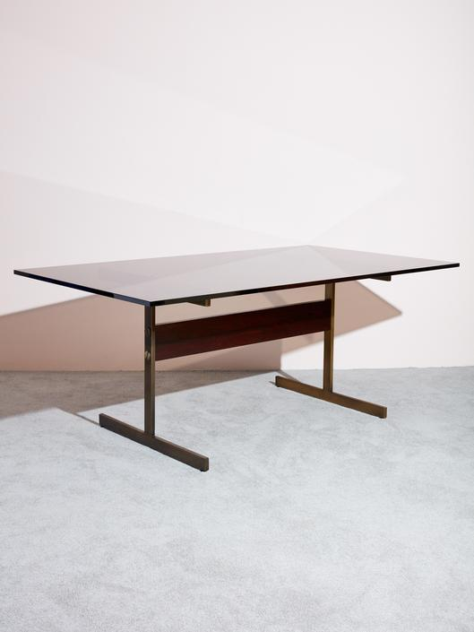 Smoke Glass Dining Table by Lane