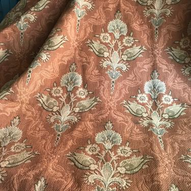 French Art Nouveau Fabric Remnant, Wool, Cotton, Upholstery Sewing Textile, Chateau Decor by JansVintageStuff