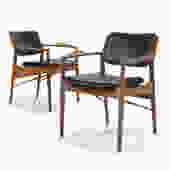 Pair of Arne Vodder Armchairs by Sibast