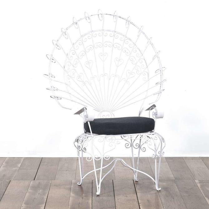Bohemian Twist Metal Peacock Chair