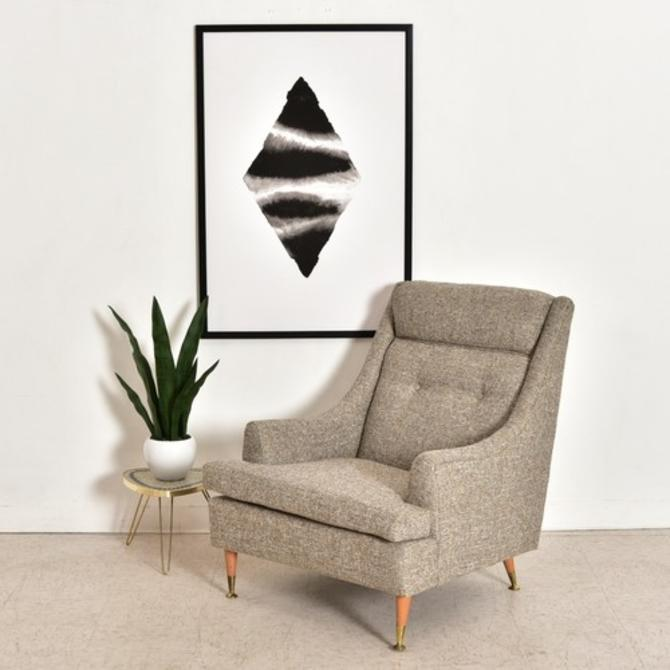 Vintage Mid Century Lounge Chair Newly Reupholstered