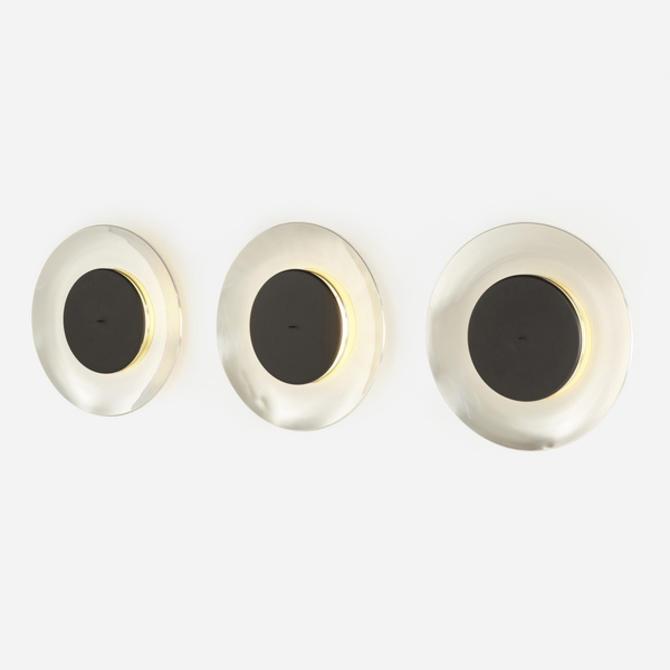 Lunaire wall lamps, set of three (Ferréol Babin)