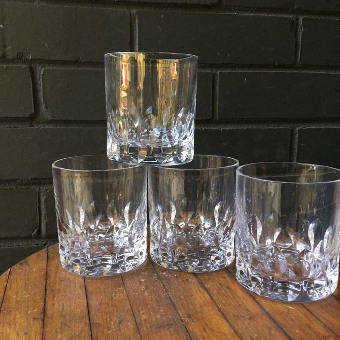 Cartier Gilles Crystal Straight Sided Lowball Glasses Whisky Scotch Cocktail by BrainWashington