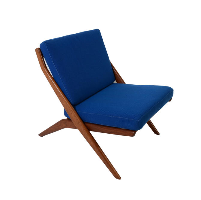 Dux Scissor Chair Lounge Chair Folke Ohlsson  Danish Modern by HearthsideHome
