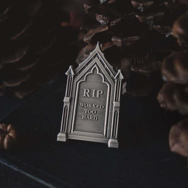 A Grave Shame Enamel Pin