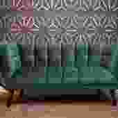 Dark Green velvet  Love Seat