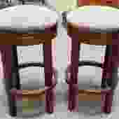 Item #MG1 Pair of Contemporary Swivel Top Counter Stools by Stickley