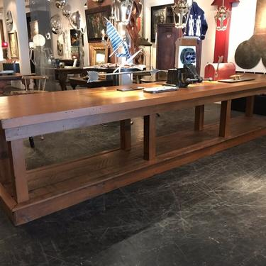 Two-Tier Painted Mercantile Work Table
