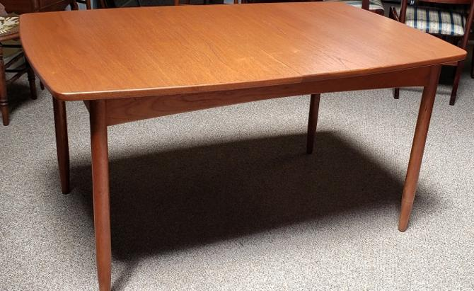 Item #R55 Vintage Teak Dining Table w/ Butterfly Leaf c.1960s
