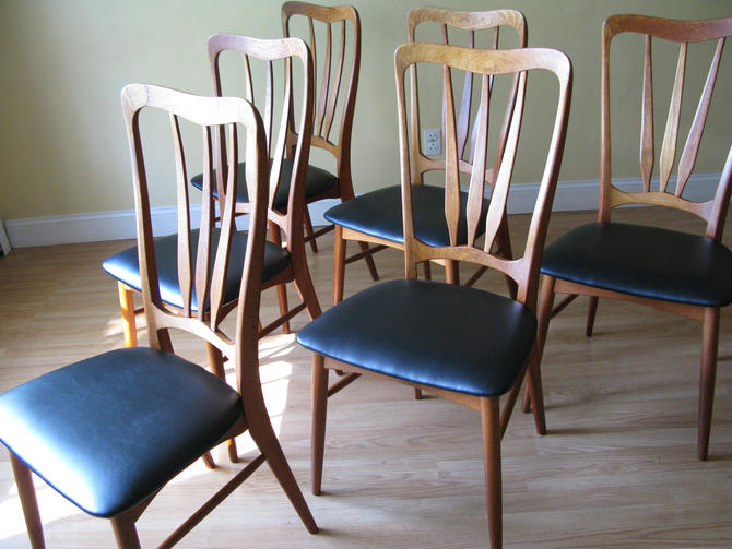 Set of 6 Koefoeds Hornslet Danish High-back dining side chairs by ASISisNOTgoodENOUGH