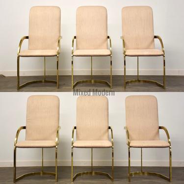 Modern Brass DIA Dining Chairs- Set of 6 by mixedmodern1