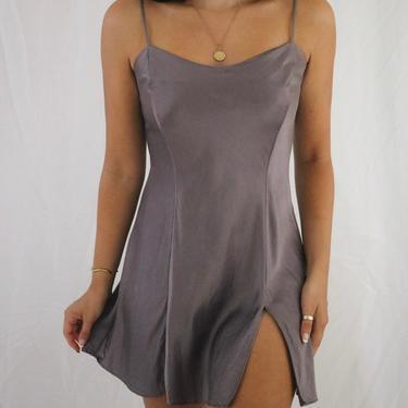 Vintage Victoria's Secret Lavender Purple Silk Slip Dress - Medium by LadyLVintageCo