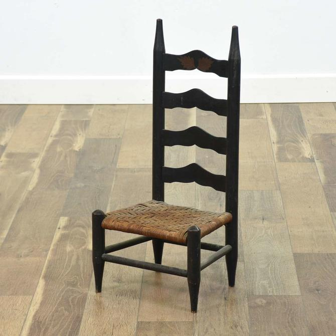 Child'S Shaker Style Ladder Back Chair W Reed Seat