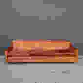 Rusty Orange Velvet 1960's Sofa-As Found