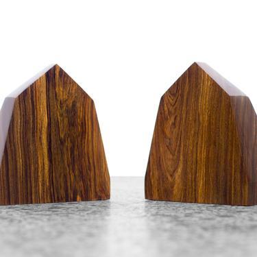 Rosewood Obelisk Bookends by JefferyStuart
