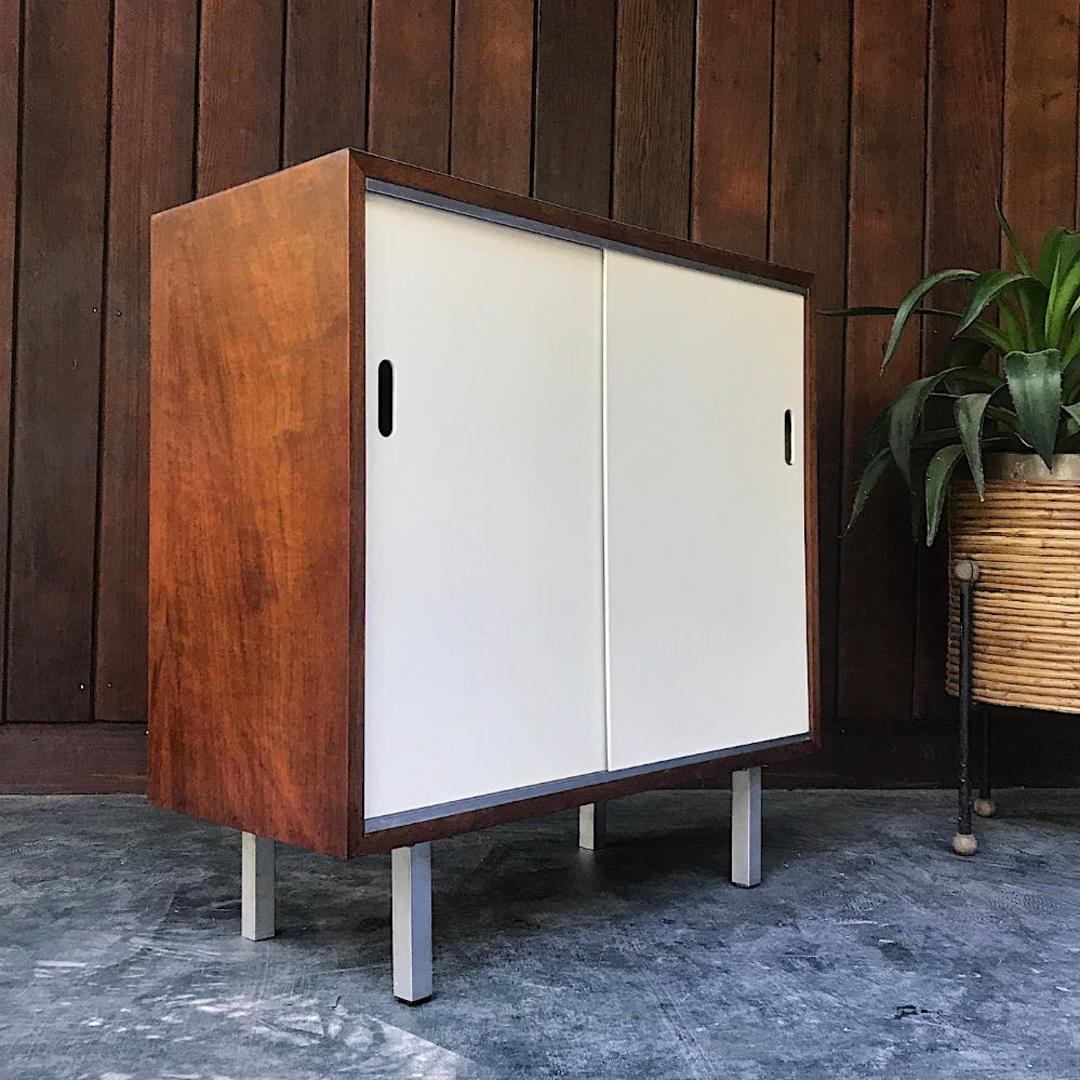 vintage american modern credenza storage cabinet mid century  brainwashington  brain