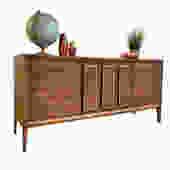 IMPECCABLE Walnut Mid Century MODERN CREDENZA / Triple Dresser by CIRCA60
