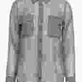 Equipment - Houndstooth Semi-Sheer Silk Button-Up Blouse Sz S