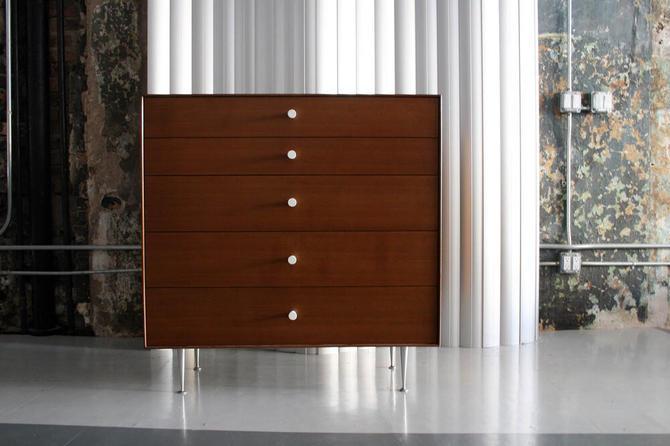 Walnut Thin Edge Dresser / Chest by George Nelson for Herman Miller