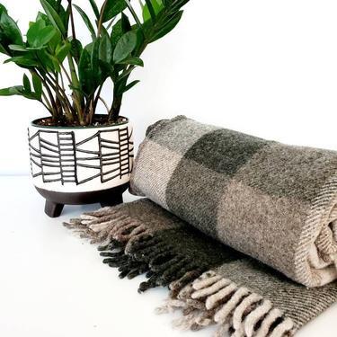 Vintage Pendleton Wool Plaid Blanket Throw by pennyportland