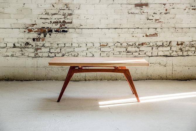 Midcentury Modern Coffee Table - Solid Wood and Copper by StocktonHeritage