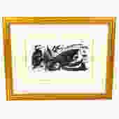 Joan Miro Escultor Stuiet Signed Pencil Lithograph