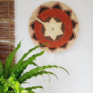"Hand Woven Tribal Wall Basket 14"" by pennyportland"