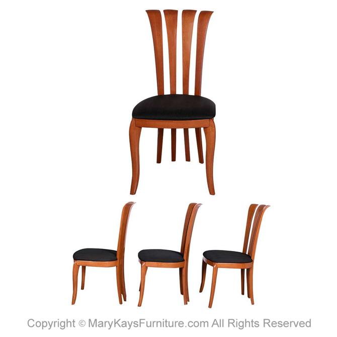 Four A. Sibau Italian Dining Chairs by Marykaysfurniture