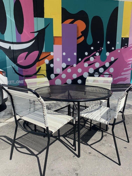 Mid Century Modern Vintage Patio Dining  - Set of 5 Pieces by XcapeVintage