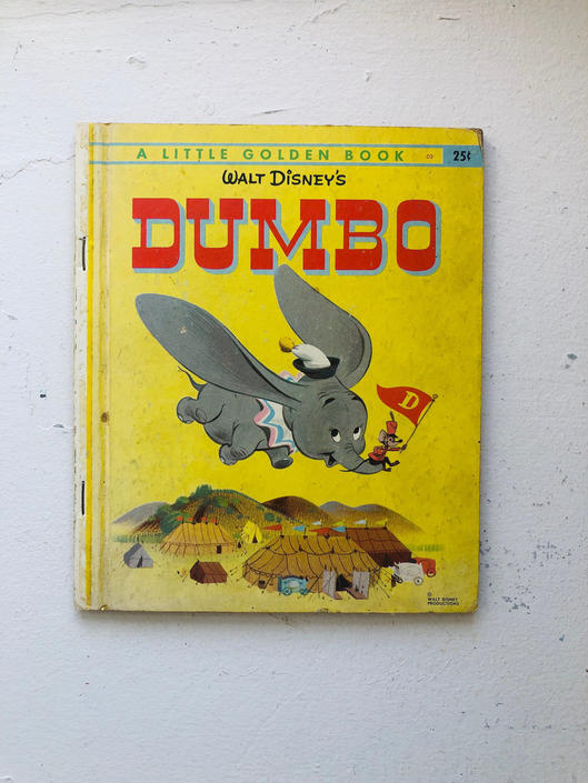 "Vintage 1947 ""A Little Golden Book"" Series, Walt Disney's Dumbo, Walt Disney Productions, Colorful Illustrations by BlackcurrantPreserve"
