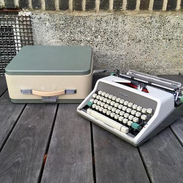1961 Olympia SM7 Deluxe Portable Typewriter with Case, New 2 Color Ribbon, Owner's Manual by Deco2Go