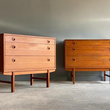 Teak Dressers by Folke Ohlsson for Dux Sweden