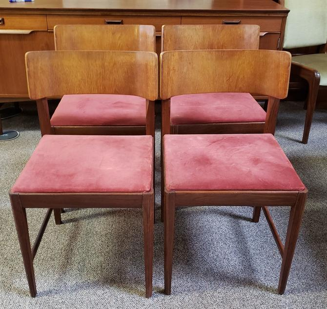 Item #MA48 Set of Four Vintage Dining Chairs c.1960
