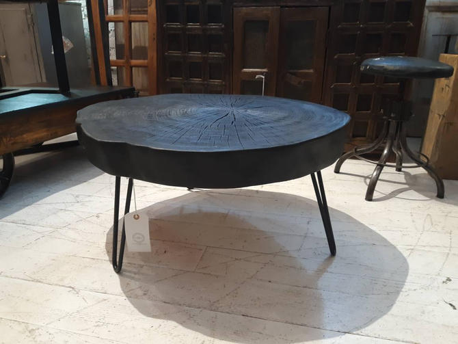 Charred ash coffee  table by StateStreetSalvage