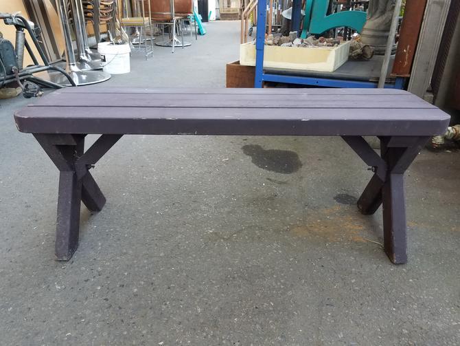 Wood Picnic Table Bench H16.75 x W42 x D13