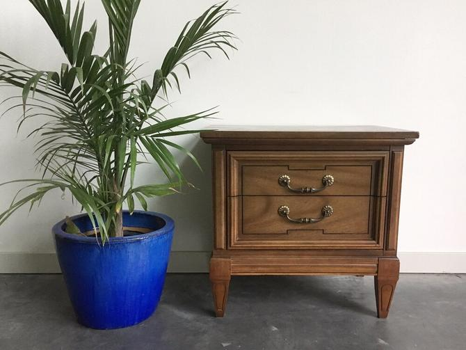 vintage mid century cube nightstand by Dixie.