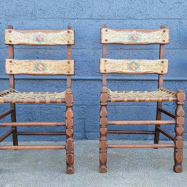 Set of 4 California Rancho / Spanish Colonial Dining Chairs by JanakosAndCompany