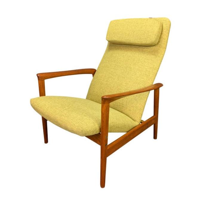 Vintage Scandinavian Mid Century Modern Teak Lounge Chair Recliner by Alf Svensson for Dux of Sweden by AymerickModern