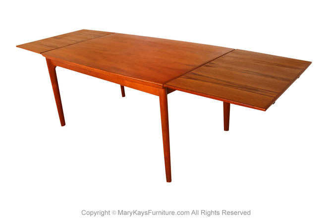 Danish Teak Extra Large Extendable Dining Table by Marykaysfurniture
