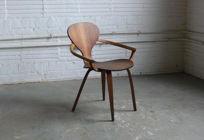 Plycraft Molded Plywood Armchair Attributed to Norman Cherner (2 Available) by CoMod