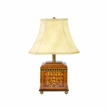 Vintage Frederick Cooper Table Lamp Antique Style English Tea Caddy by PrairielandArt
