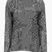 Theory - Charcoal Cable Knit Fisherman Sweater Sz S