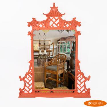 Pagoda Orange Mirror