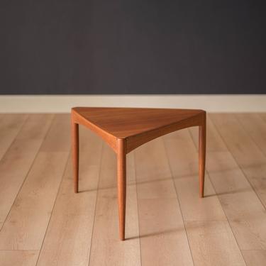 Vintage Scandinavian Teak Triangle End Table by MidcenturyMaddist