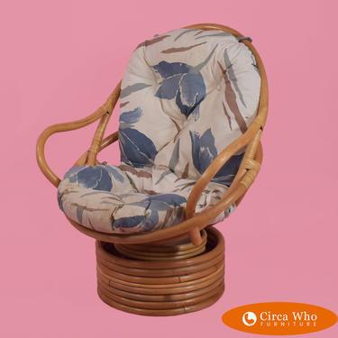 Rattan Papasan Style Chair