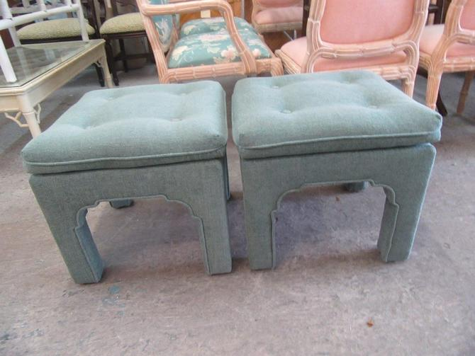 Pair of Moroccan Upholstered Benches