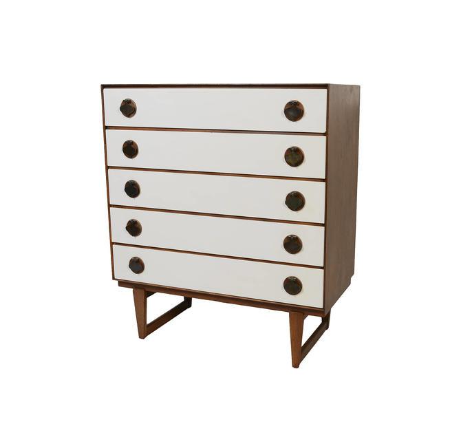 Walnut Tall Dresser Stanley Furniture Mid Century Modern by HearthsideHome