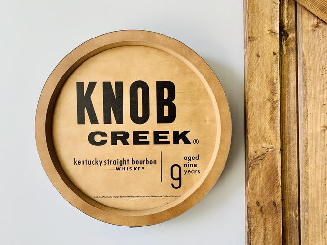 Knob Creek Barrel Top Sign | Wall Hanging | Bar Art | Whiskey Art | Bourbon Art | Bar Gift | Bar Decor | Home Decor | Whiskey Barrel by PiccadillyPrairie