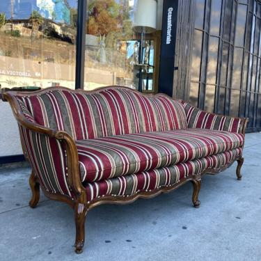 Showstopper Stripes   Classic French-style Striped Sofa