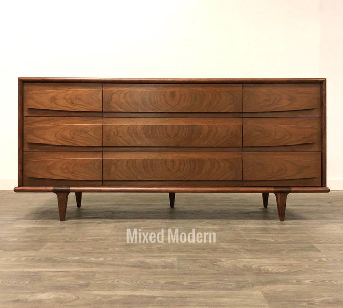 American of Martinsville Walnut Dresser by mixedmodern1